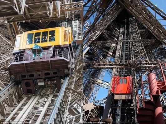 thang máy xấu xí, thang máy mới tháp eiffel