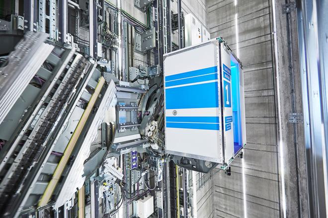 cây thang máy đột phá di chuyển 3 chiều